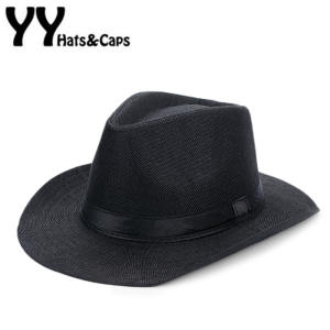 7a9d5a91 Summer Panama Hat Men Wide Brim Beach Cap Male Panama