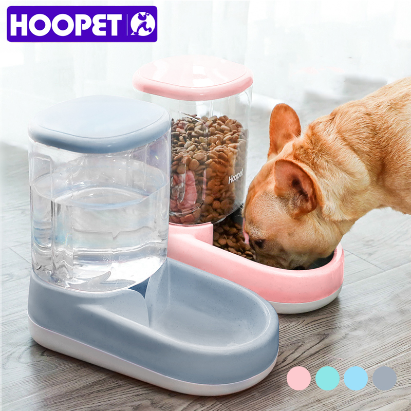 HOOPET Food Storage font b Pet b font Automatic Feeder Dog for Cat Drinking Bowl for