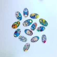 1 PCS  abstract series icon Oval Badges backpack acrylic badge cartoon needle badge clothing decoration badge hot sale 2017