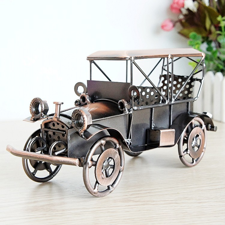 Alloy metal crafts classic car model ornaments sports two color optional Q84 home decoration accessories modern
