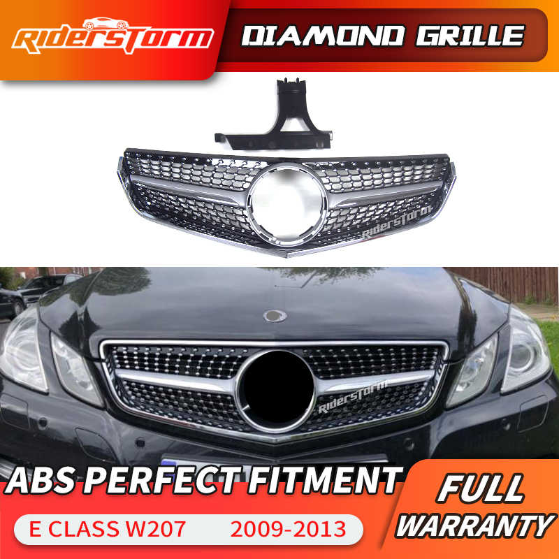 N\A Car grill For Car Accessories E Class Coupe W207 C207 A207 2014-2016 Diamond Front Grille Grill