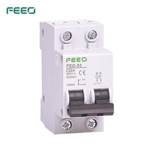FEEO 2P 6A/10A/16A/20A/25A/32A/40A/50A/63A DC 550V Circuit breaker MCB Solar Energy Photovoltaic PV(China)