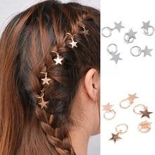 5pcs/bag Twist braid hair ornament for Women Charming Alloy Circle Hoop Personality braid DIY Pendant Hair Accessories