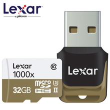 Lexar 150 МБ/с. 1000X Micro SD, SDHC 32 ГБ Class 10 64gbmicro SDXC 128 ГБ картридер UHS Для Drone Gopro Hero видеокамер Спорт