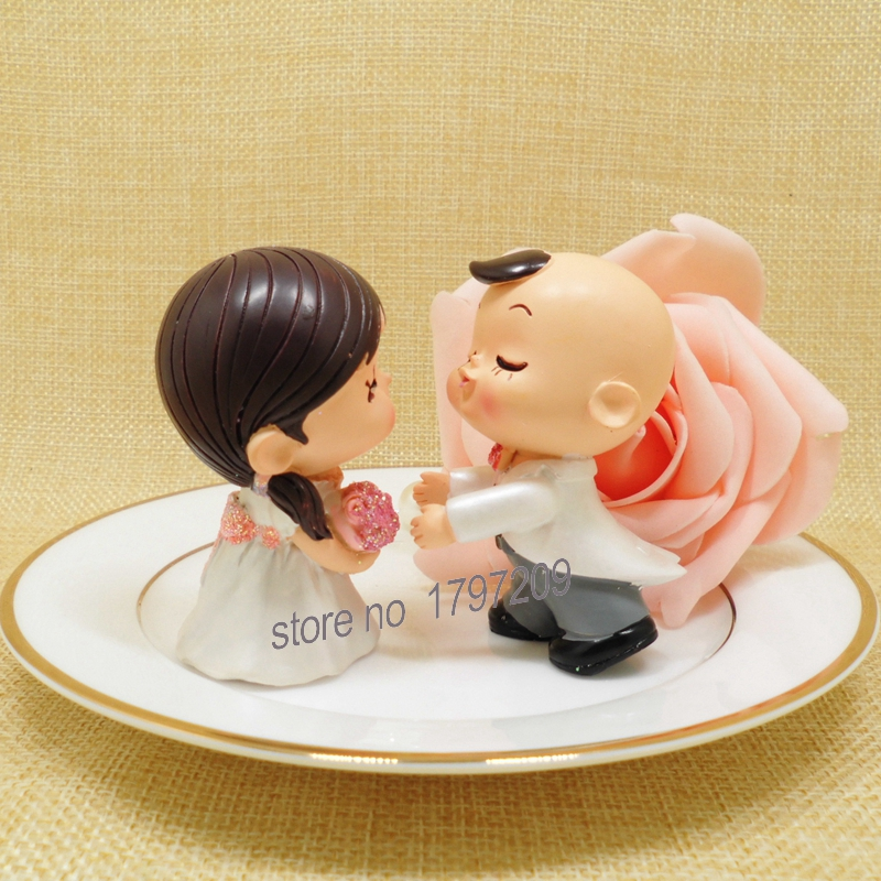 1set Bride and Groom Couple Figurine Wedding Cake Topper Wedding ...