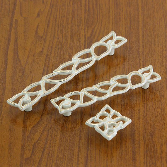3 75 39 39 5 39 39 White Gold Dresser Pulls Drawer Pull Handles Cabinet Door Handles Hollow Modern Furniture Knobs Bling Hardware in Cabinet Pulls from Home Improvement