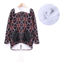 Новый Уютный Женщины Толстый Искусственного Овечьей Шерсти С Капюшоном Зима Теплая Куртка Пальто Верхняя Одежда