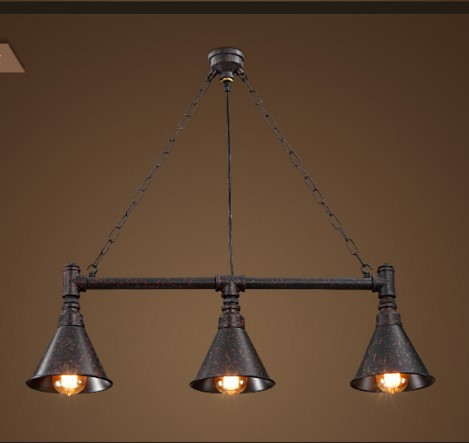 Edison RH Loft Industrial Pendant Light With 3 Lights Fixtures For Dinning Room Vintage Pipe Lamp Lampen Hanglamp edison inustrial loft vintage amber glass basin pendant lights lamp for cafe bar hall bedroom club dining room droplight decor