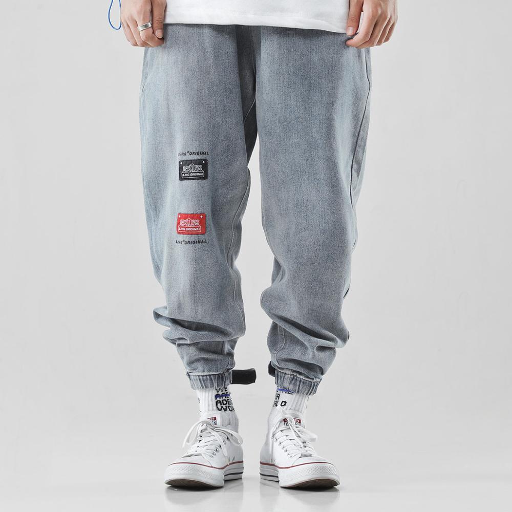 Jeans Baggy Pantalon Harem-Pants Streetwear Hip-Hop Mens Blue Harajuku Denim Herren Homme
