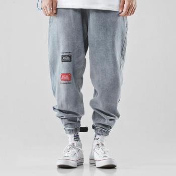 2019 jean ample hip hop sarouel homme pantalon homme jean herren harajuku denim hommes bleu modis vêtements streetwear