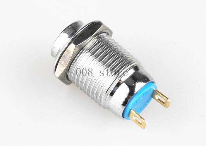 1pcs/lot 12mm Bulge Stainless Steel Metal L29 Push Button Switch Car Modification Horn Doorbell Automatic Reset Sell