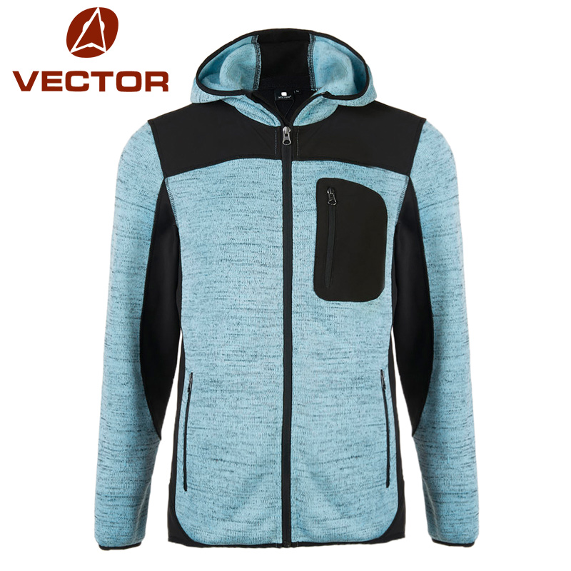 VECTOR Outdoor Jacket Men Thermal Winter Knit Polartec Fleece Warm Camping Hiking Jackets Polar Male Sport