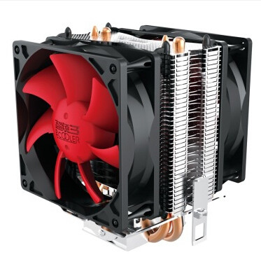 CPU cooler,dual-fan, 2 heatpipe, tower side-blown, for Intel LGA 775/1155/1156, for AMD 754/939/AM2/AM2+/AM3/FM1,CPU radiator, 4 heatpipe 130w red cpu cooler 3 pin fan heatsink for intel lga2011 amd am2 754 l059 new hot