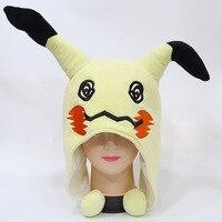 حلي تأثيري أنيمي لطيف البوكيمون mimikyu أفخم قبعة قبعة دافئة