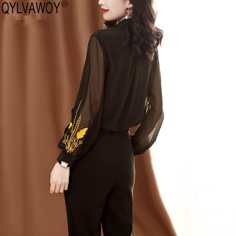Блузка женская, винтажная, из 100% шелка, J19030208