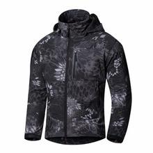 2017 Men s Softshell Jacket waterproof windbreakers Army tactical Clothing 5 Color