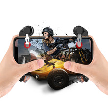 PUBG joystick mobile gamepad controller trigger fire button l1r1 for iphone phone ios android gamepad game controller smartphone handjoy x max mobile pubg controller gamepad wireless bluetooth 4 0 singe hand joystick for android ios smartphone
