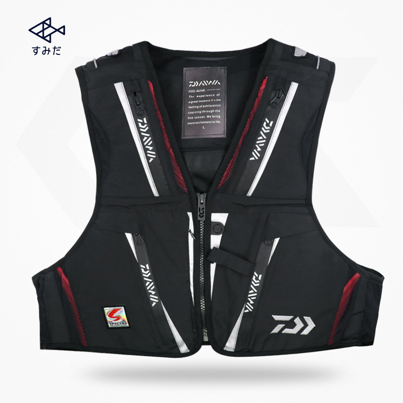NEW DAIWA Fishing Vests DAWA Multi function Multi Pocket ...