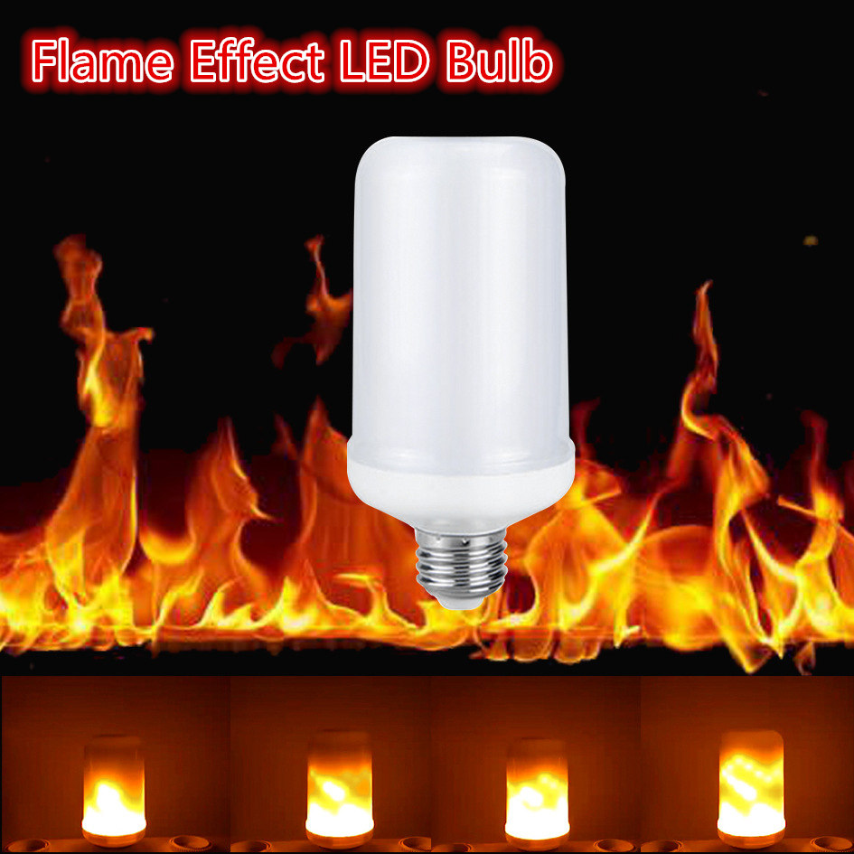 LED buring fire Flame Effect LED Bulb Corn Lamp Night Light Bulbs Novelty Emulation Fire Flicker Burning Decorative lamp Lantern