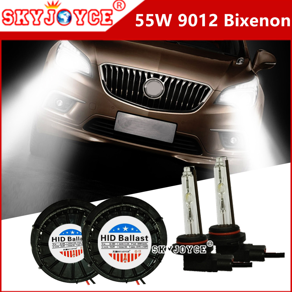 SKYJOYCE Original Design 9012 high low bixenon projector bulb bixenon headlight All In One Kit 55W 5000K 9012 hir2 bulb 6000K sukioto no error 55w canbus hid xenon kit 9012 hir2 bulbs for gl8 regal envision verano headlight 9012 bixenon projector lens