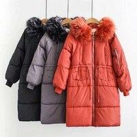 Зимняя женская обувь хлопковая парка плюс Размеры 5XL 2018 женский Уплотненные теплые пальто с капюшоном Для женщин более Размеры d парки пальт