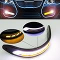 2 UNIDS Flexible Impermeable luces Direccionales Laterales Coche que Labra la Luz COB LED de Luces de Circulación Diurna DRL Faros de niebla Con la Luz de Señal CA