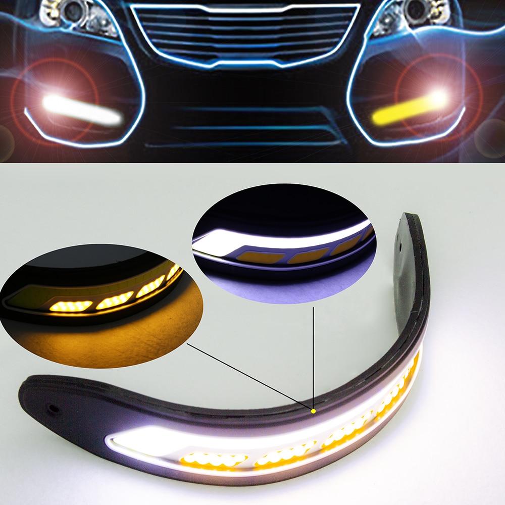 2 SZTUK Elastyczne boczne kierunkowskazy Światła Wodoodporna - Światła samochodowe - Zdjęcie 2