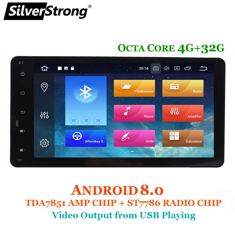 SilverStrong 8 Core 4 + 32 gb Voiture GPS Pour MITSUBISHI Android Outlander 2DIN pour ASX Pajero 2014-2017 radio