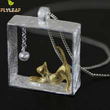 Flyleaf 100% 925 пробы серебряные ожерелья с котом и кулоны