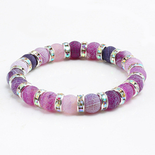 Crystal Beaded Chakra Yoga BraceletNatural Stone Beads