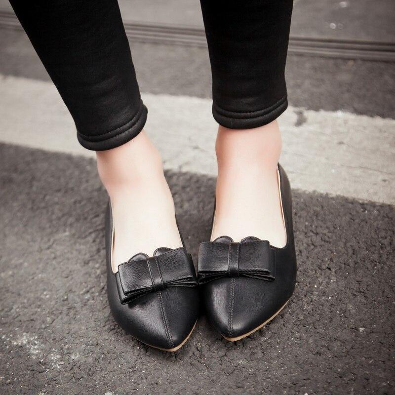 Pointu Printemps Femmes Chaussures Confort Femme Lady Grandes Appartements blanc 40 Offre Karinluna rose Tailles Nouveau Noir Spéciale Arc Bout Office De Élégant Loisirs OZUvTqPY
