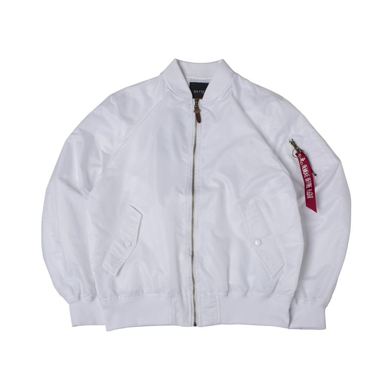 Image 4 - 2018 Autumn Thin White Ma1 bomber flight rain windbreaker waterproof varsity letterman air force baseball jacket for men/women-in Jackets from Men's Clothing