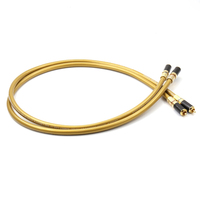Cardas Helexink Golden 5C RCA interconnect Cable with carbon fiber RCA plug connector
