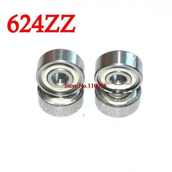 10 adet/grup 624 624Z 624ZZ bilyalı rulman 4*13*5mm krom çelik rulman