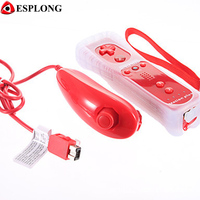 2 In 1 Controle Game Remote Controller Nunchuck With Motion Plus For Nintendo Wii Wii U