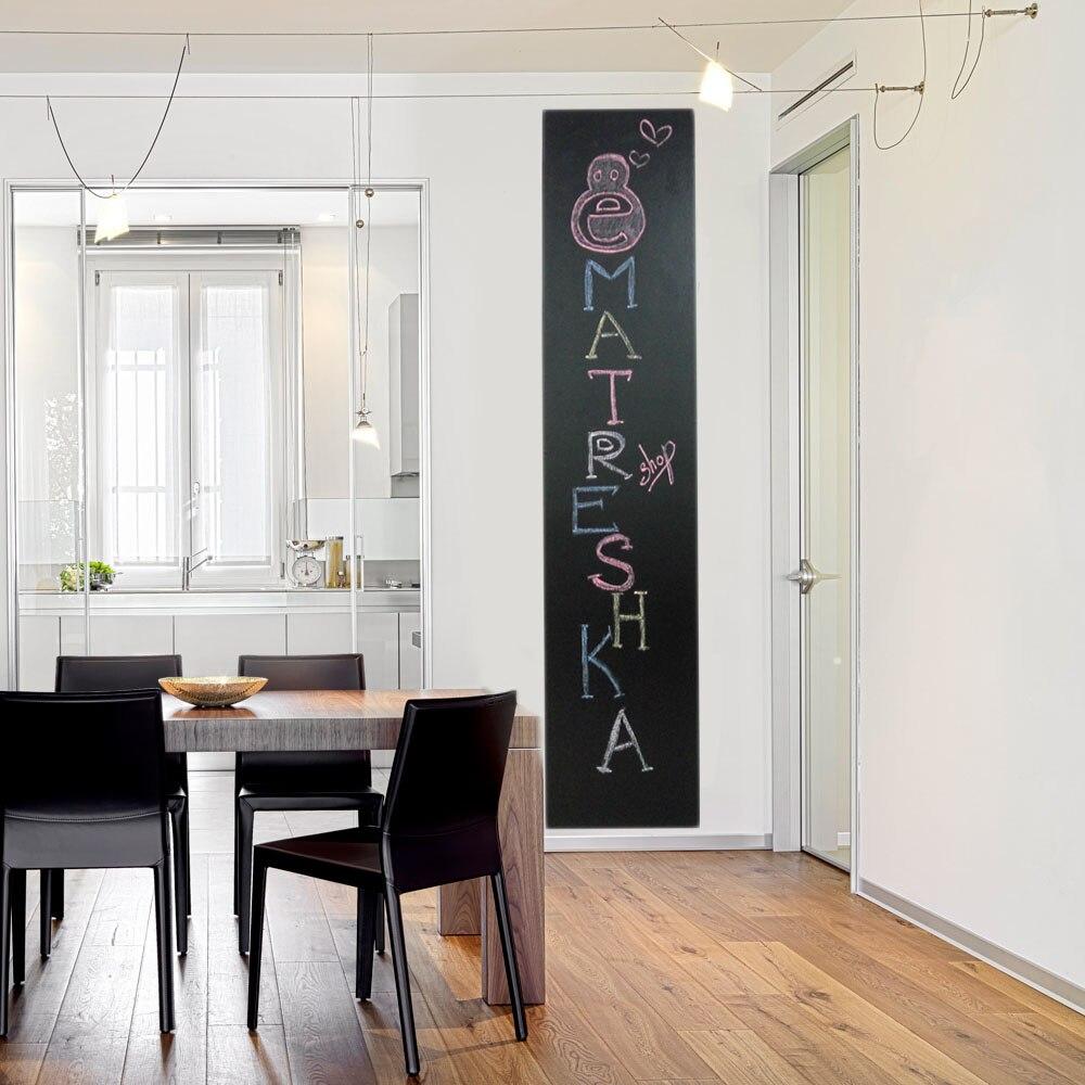 Tableau noir En Plastique moderne Tableau noir Autocollants 45x200 cm Home Decor panneau Tirage film autocollant fonds d'écran Mur et Réfrigérateur 000-282
