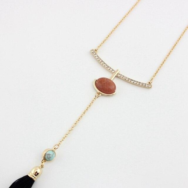 Фото chicvie черные ожерелья с кисточками и подвески золотого цвета цена
