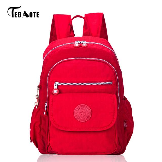 ac1783966659 TEGAOTE Newest Small Backpack for Teenage Girls Classic Backpacks Female  Mochila Feminina Escolar Casual Nylon Bag