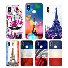 Silicone Phone Case France Paris Flag Fashion Printing for Xiaomi Mi 6 8 9 SE A1 5X A2 6X Mix 3 Play F1 Pro 8 Lite Cover цена