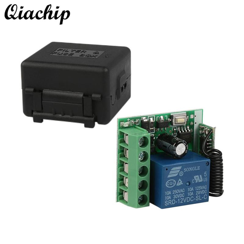 QIACHIP DC 12V 1CH 433MHz Wireless Remote Control Switch RF Relay Receiver 433 MHz Button Module For Smart Home LED Light Switch dc 12v 2ch wireless remote control light switch system mini 2channel receiver with 2pcs 2 button transmitter for smart home