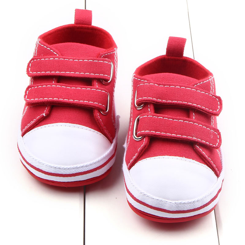 HONGTEYA Canvas shoes baby shoes baby boys Girls soft sole rubber baby shoes frist walkers