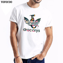 YOFOCOO Game Of Thrones Dracarys t shirt for Men Aesthetic tshirt Mother of Dragon Daenerys Harajuku Clothes Khaleesi Camise цена и фото