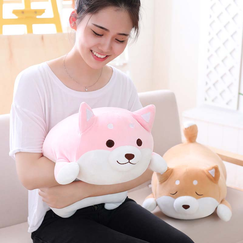 35//55cm Cute Fat Shiba Inu Dog Plush Toy Kids Baby Play Cushion Cartoon Pillow