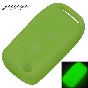 Image 4 - jingyuqin Silicone Cover For Mercedes Benz SLK E113 A C E S W168 W202 W203 Flip Folding Car Remote Key Fob Case 2 Button