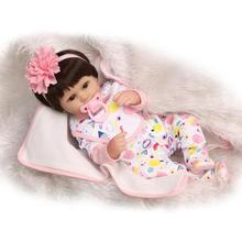 17 Inch Alive Silicone Reborn Babies Dolls Unisex Dolls for Children Nursing Sleeping Doll Perfect Birthday Gifts Bonecas Bebe