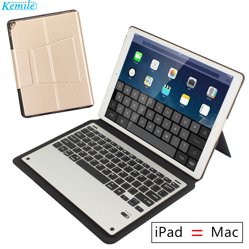 Kemile Ultra Thin Bluetooth 3.0 Aluminum Alloy Keyboard Stand Case / Cover for Apple iPad Pro 12.9 inch 2017 /2015 Version