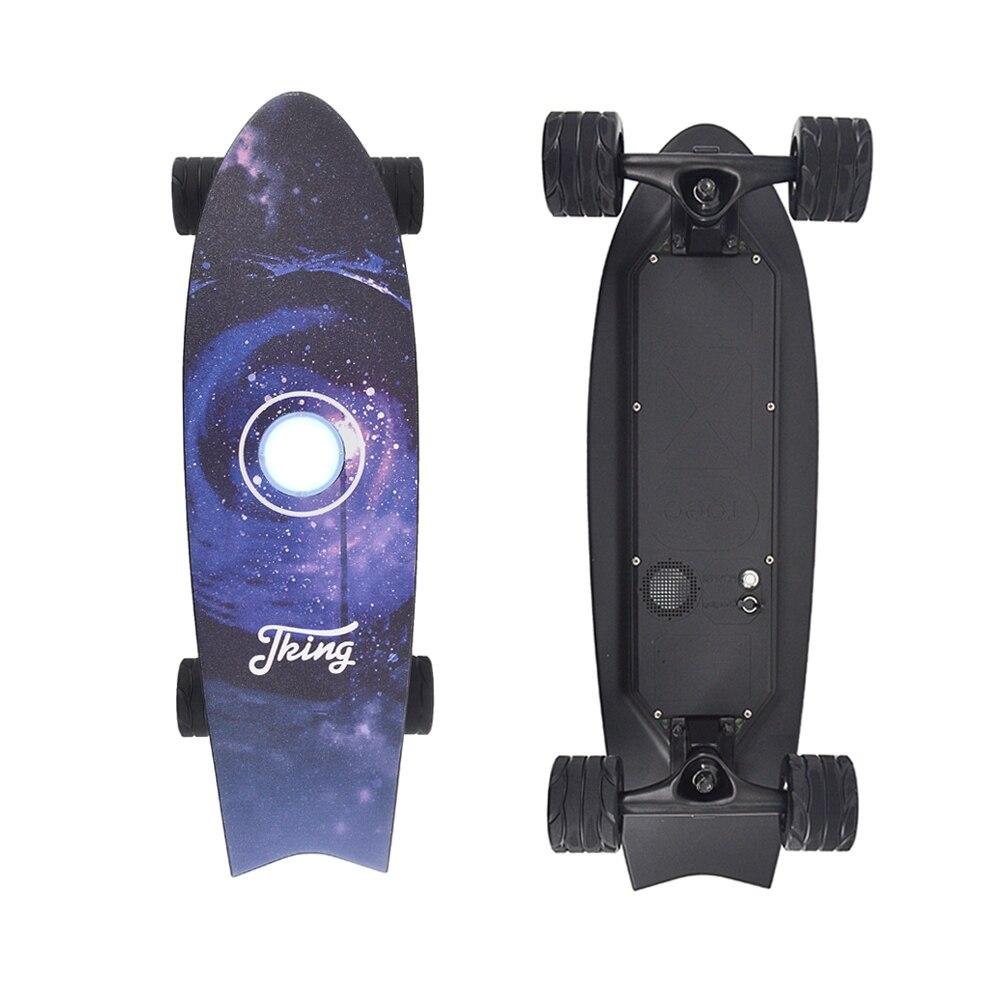 Planche à roulettes électrique à quatre roues avec télécommande sans fil E planche à roulettes Scooter Longboard planche à roulettes pour adultes enfants