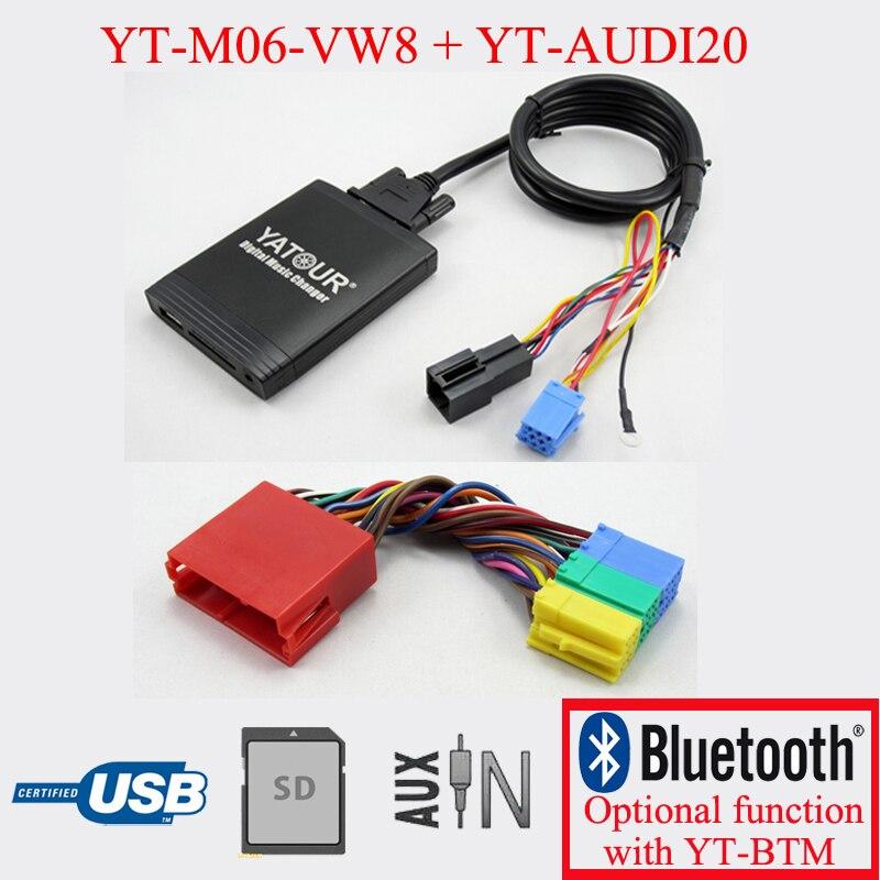 Lecteur MP3 numérique de voiture pour radio AUDI 20PIN avec fonction USB SD AUX