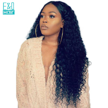 Water Wave Lace Front Human Hair Wigs For Women Pre Plucked Hairline With Baby Hair Natural Black Color Brazilian Remy Hair
