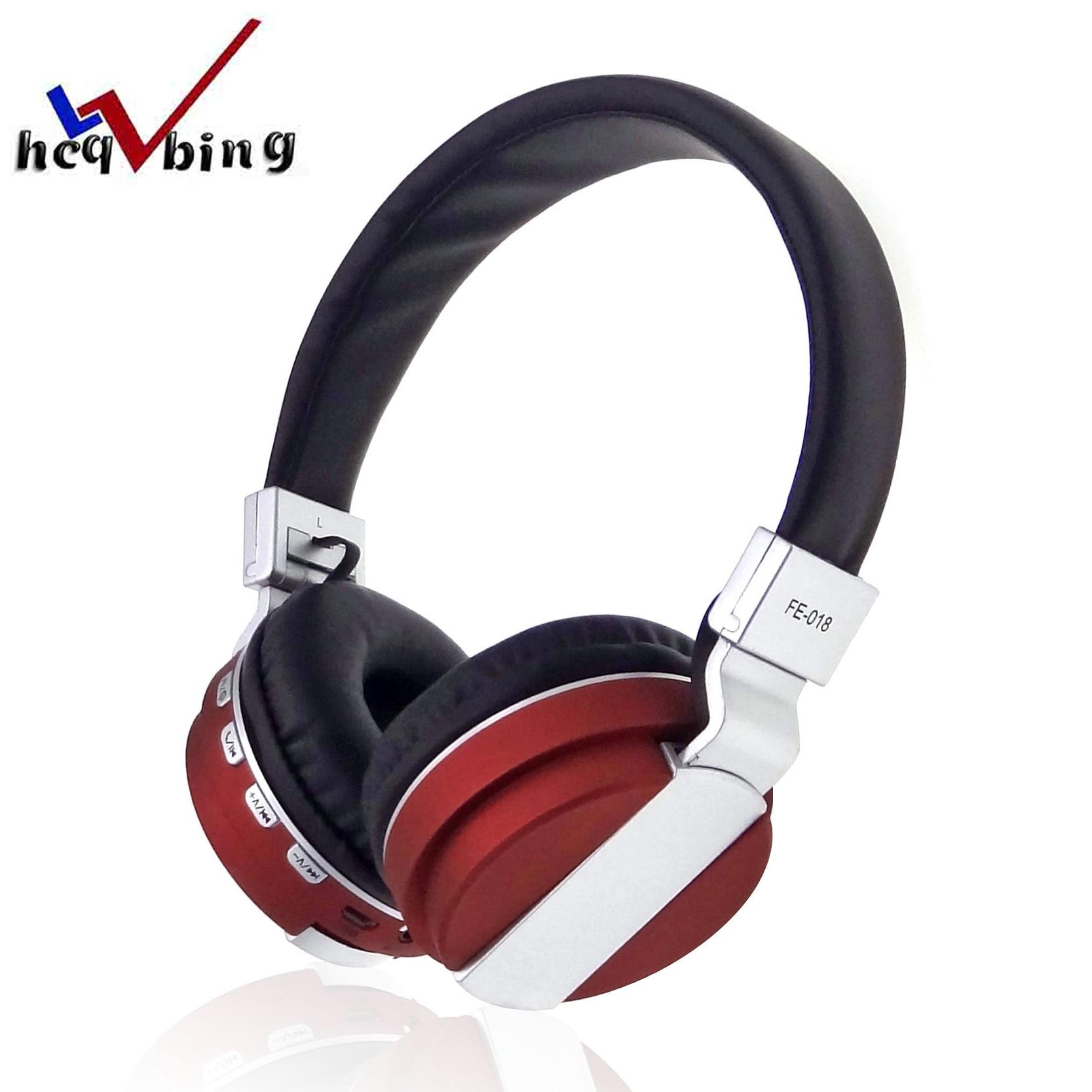 HCQWBING New Foldable headphone wireless NFC bluetooth 4.2 + micro sd + FM Multifunction stereo mic headset Handsfree microphone